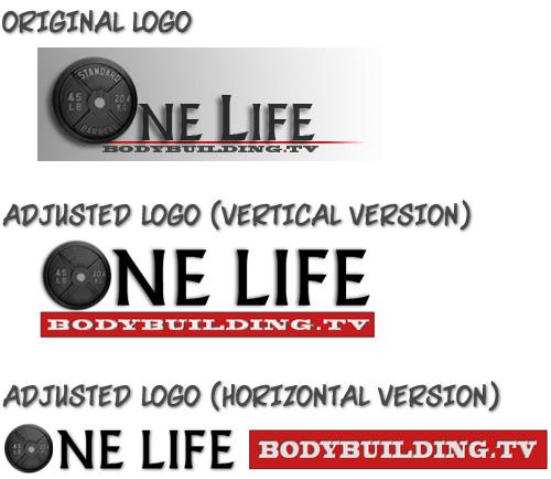 One Life Bodybuilding logo adjustments