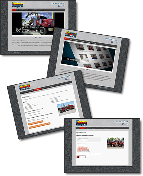 Reeve Trucking website