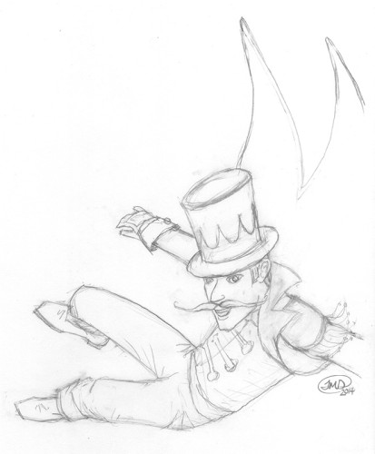 ff-flyer-ringmaster-pencil-sketch