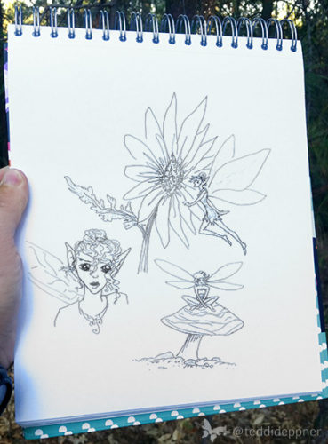 Izzie's fairy sketch
