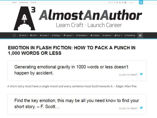 Almost An Author - Packing an emotional punch in flash fiction
