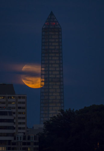Supermoon as seen from Washington on 2013-06-23. Credit: NASA/Bill Ingalls