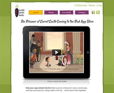 Purple Carrot Books website screenshot