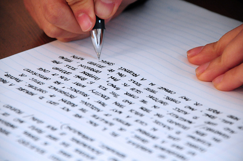 Writing photo by jjpacres on Flickr