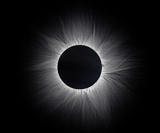 Corona detail on 2012 solar eclipse by Nicholas Jones